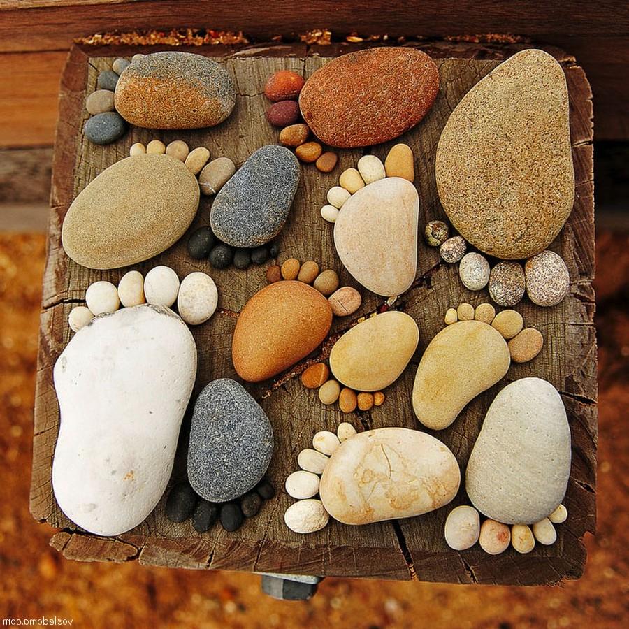 Как сделать из морских камней