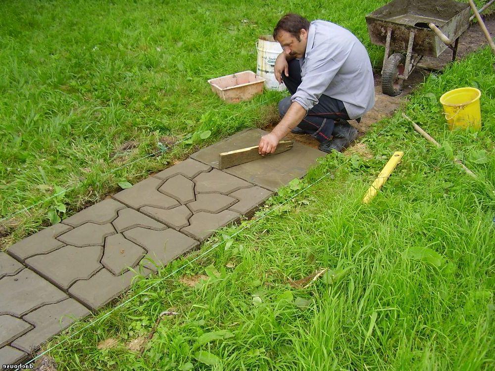 Укладка тротуарной камень своими руками 828
