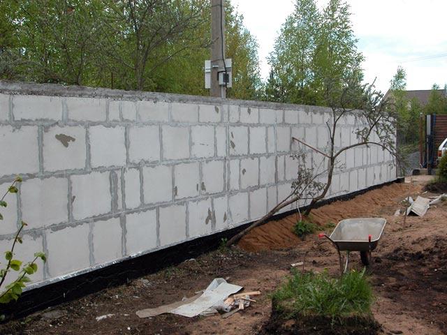 Как самим сделать бетонный забор 707